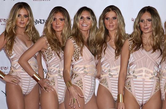 Heidi Klum se svými halloweenskými klony