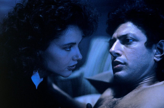 Před jednatřiceti lety vznikl zásadní osmdesátkový horor Moucha. Geena se svým druhým manželem Jeffem Goldblumem.