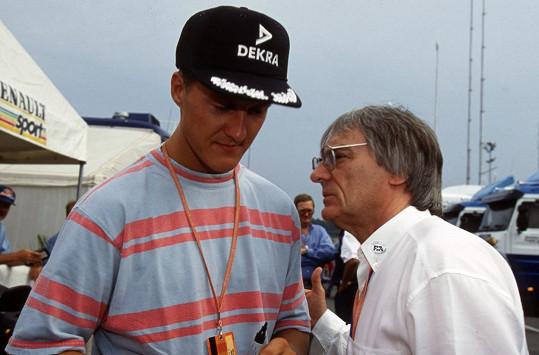 Bernie byl šéfem Formule 1 do roku 2017. Na snímku s Michaelem Schumacherem.