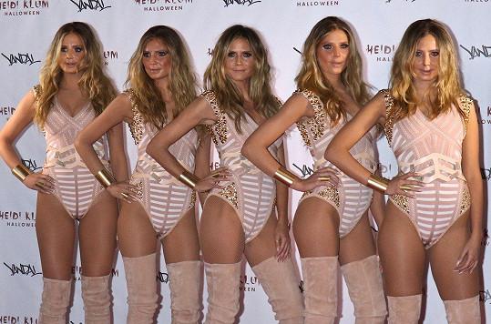 Loni přišla se svými čtyřmi klony.