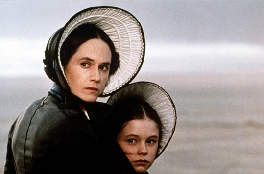 Holly Hunter s Annou Paquin ve filmu Piano (1993)