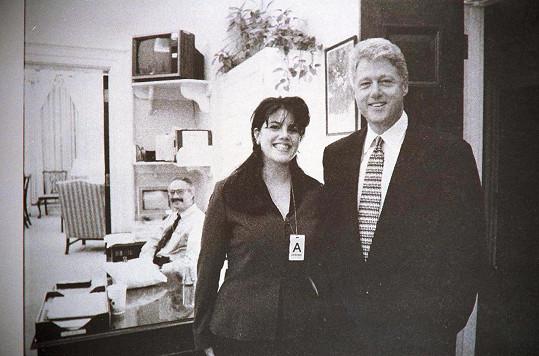 Lewinská a Clinton v Bílém domě