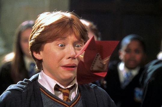 Při tvorbě prvního dílu netušil, že s Ronem Weasleym stráví příštích 10 let.