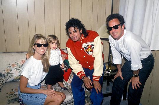 S tehdejším manželem Billym Joelem a jejich dcerou Alexou se sešli i s Michaelem Jacksonem.