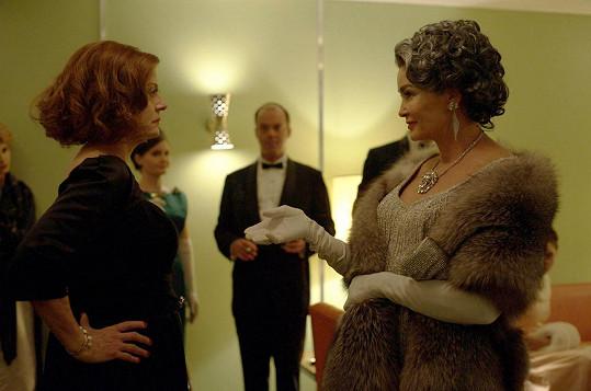 Susan Sarandon jako Bette Davis a Jessica Lange jako Joan Crawford.