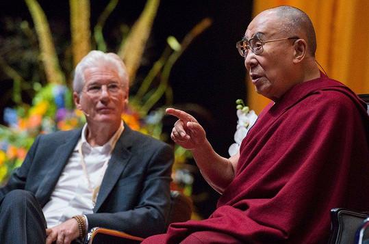 Richard Gere se s dalajlámou setkal v Rotterdamu.