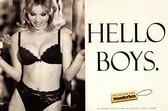 Eva Herzigová v reklamě na Wonderbru, která ji proslavila.