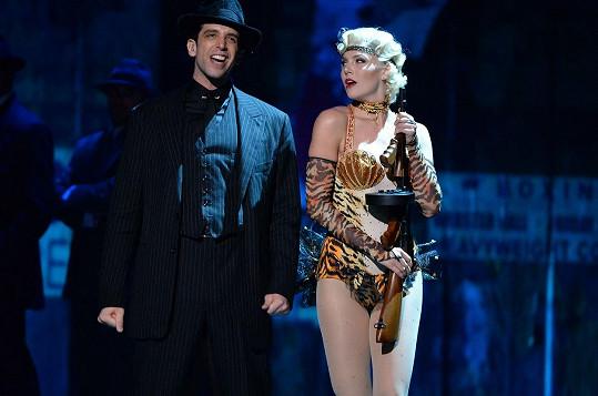 Kloots s manželem, jenž byl hvězdou broadwayských pódií.