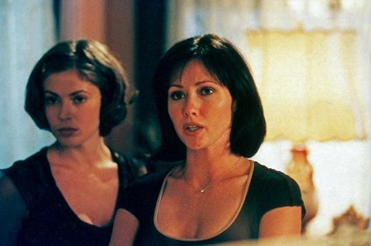 Shannen Doherty a Alyssa Milano v seriálu Čarodějky