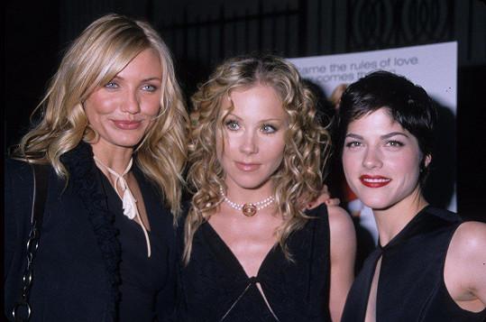 Cameron Diaz, Christina Applegate a Selma Blair spolu natočily film Prostě sexy (2002).