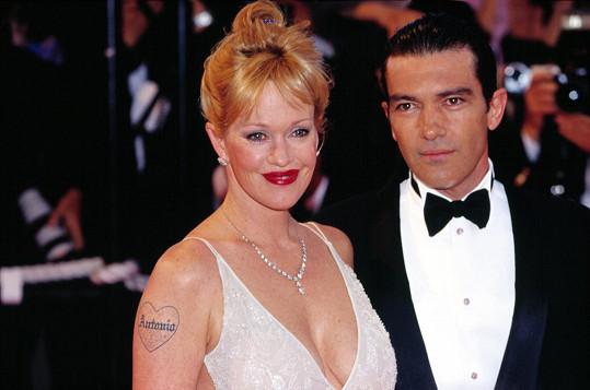 Antonio Banderas s exmanželkou Melanií Griffith