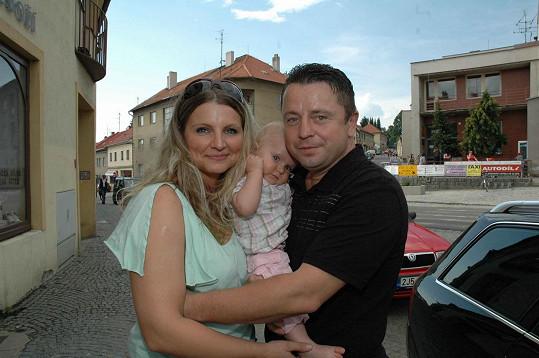 Petr Muk s manželkou Evou a dcerou Noemi