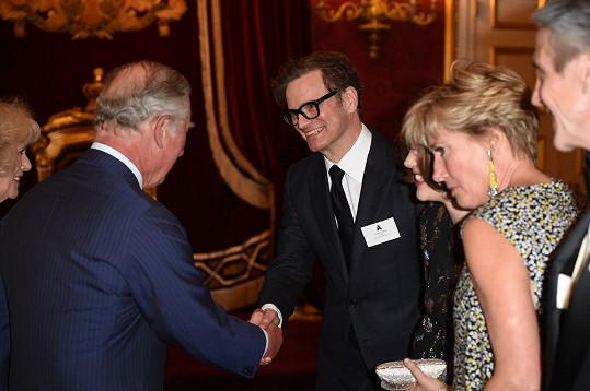 Princ Charles s Colinem Firthem a Emmou Thompson