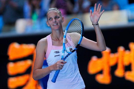 Karolína Plíšková postoupila do čtvrtfinále Australian Open.