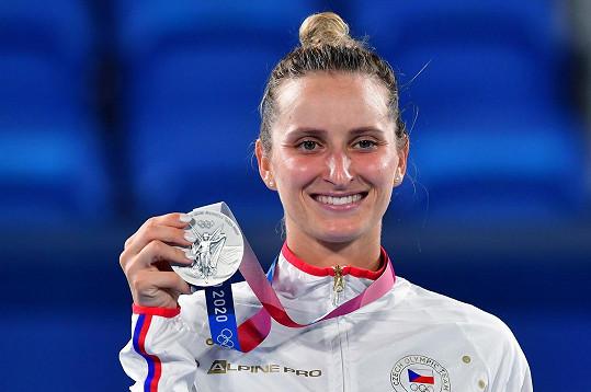 Markéta Vondroušová získala na olympiádě úžasnou stříbrnou medaili.
