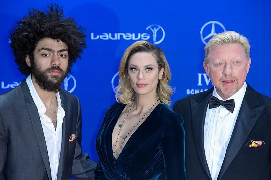 S otcem Borisem a jeho současnou manželkou Lilly Becker