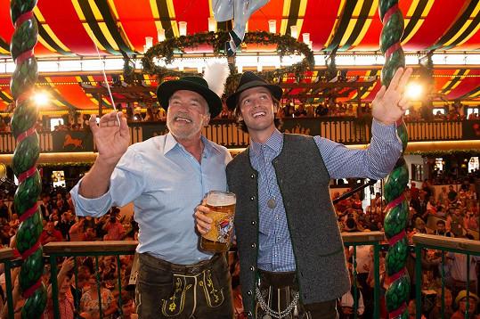 S otcem Arnoldem na Oktoberfestu