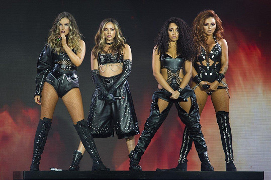 Skupina Little Mix zleva: Perrie Edwards, Jade Thirlwall, Leight-Anne Pinnock, Jesy Nelson
