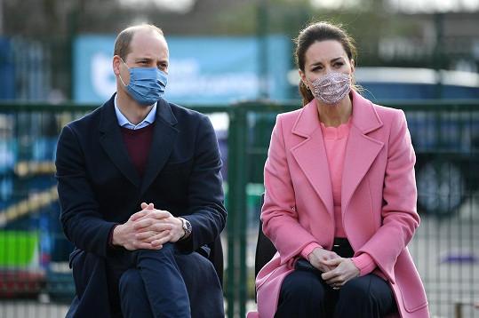 S manželkou Kate se účastnili programu na podporu duševního zdraví dětí.