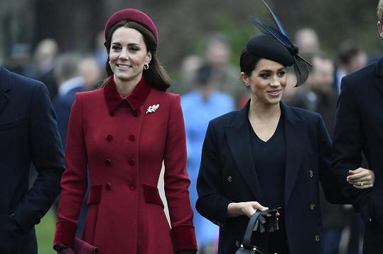 Meghan promluvila o rozepři s vévodkyní Kate.