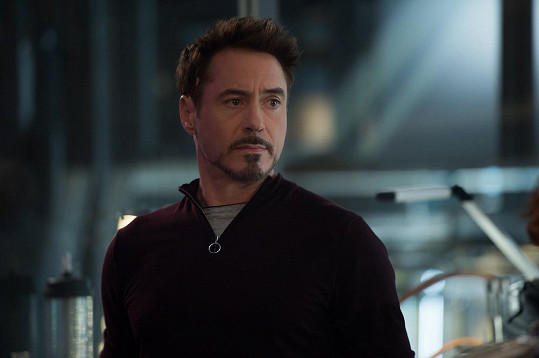 Robert Downey Jr. jako Tony Stark alias Iron Man ve filmu Avengers: Age of Ultron