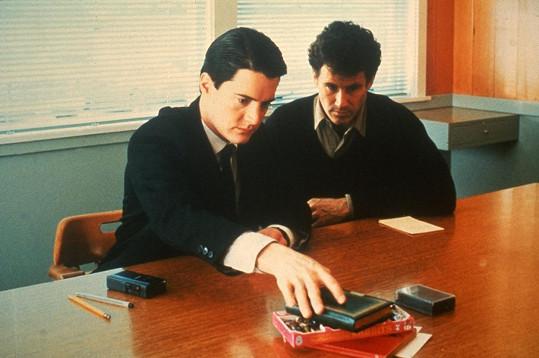 Kyle MacLachlan a Michael Ontkean v seriálu Městečko Twin Peaks