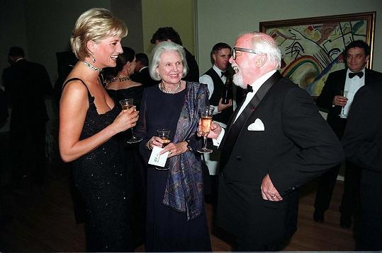 Diana a herec Richard Attenborough s manželkou