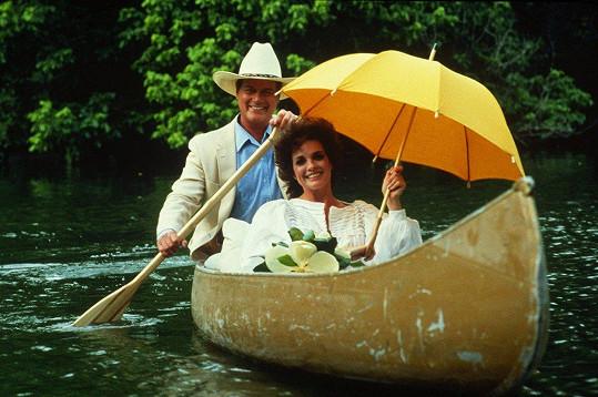 Linda a Larry Hagman alias J.R. Ewing v dobách největší slávy Dallasu