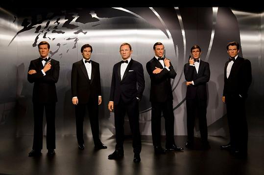 Všichni Bondové na jednom místě? V londýnském muzeu Madame Tussauds
