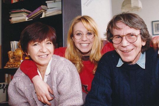 Tereza Pergnerová s rodiči