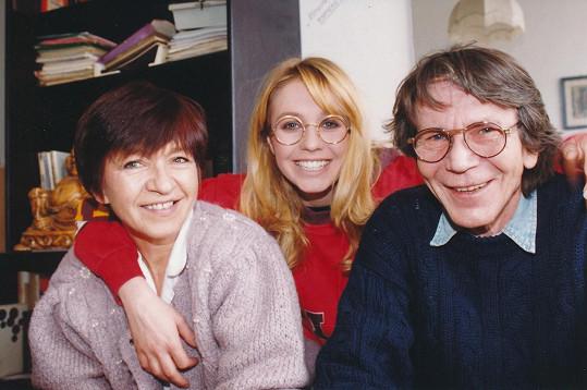 Tereza s rodiči Janou a Eduardem