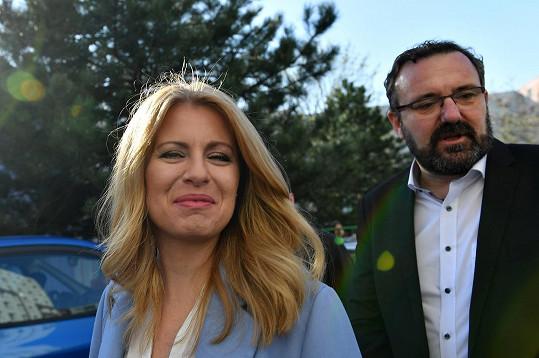 Hudebník a fotograf Peter Konečný na snímku s bývalou partnerkou, slovenskou prezidentkou Zuzanou Čaputovou