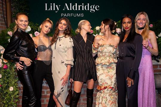 Stella s kolegyněmi z modelingu, zleva: Romee Strijd, Stella Maxwell, Taylor Hill, Elsa Hosk, Lily Aldridge, Jasmine Tookes a Martha Hunt