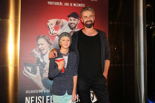 Roman Zach se synem Prokopem