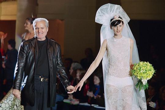 Stella Tennant a Gianni Versace
