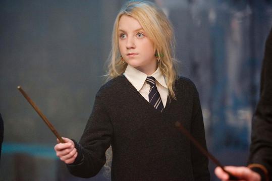 Jako podivínská kouzelnice Lenka Láskorádová v Harrym Potterovi