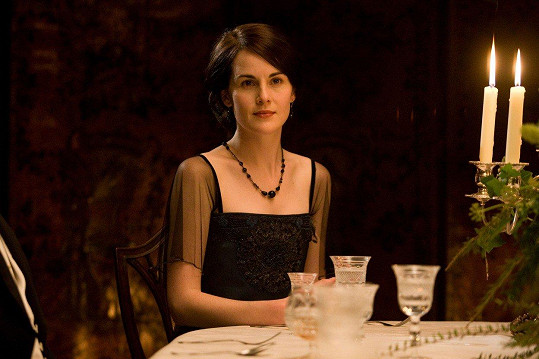 Dockery jako Mary v dobovém seriálu Panství Downton
