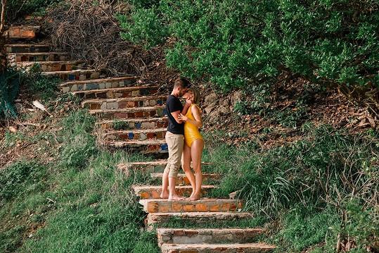 Pár na dovolené v Mexiku