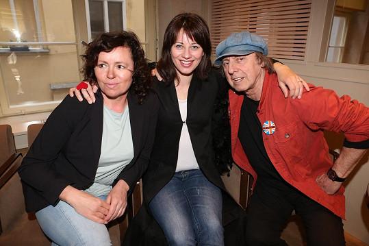 S Borisem Hybnerem a Dášou Zázvůrkovou na nedávné tiskovce k uvedení hry Lidský hlas.