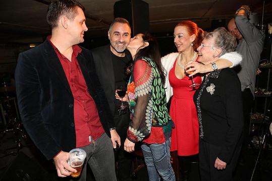 Jan Kalousek s rodinou