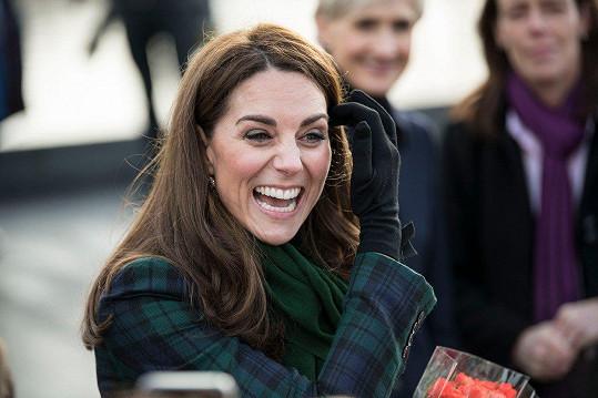 Kate byla ve skvělé náladě.
