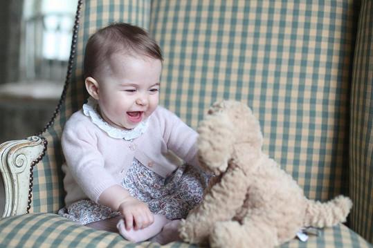 Snímky své dcery nafotila Kate na začátku měsíce.