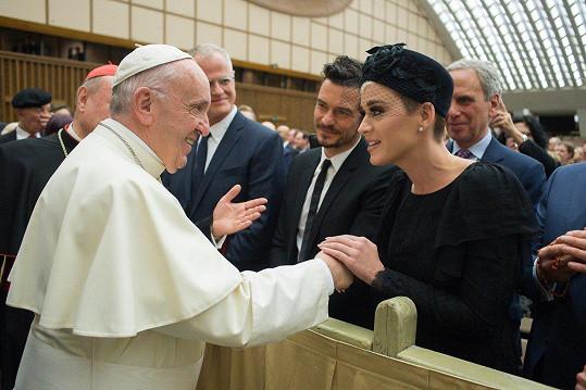 Slavný pár se setkal s papežem.