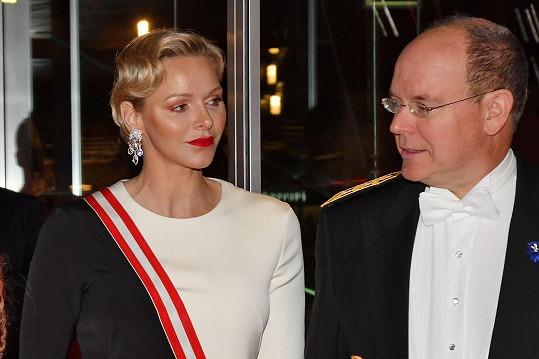 S manželem Albertem II. v listopadu 2018