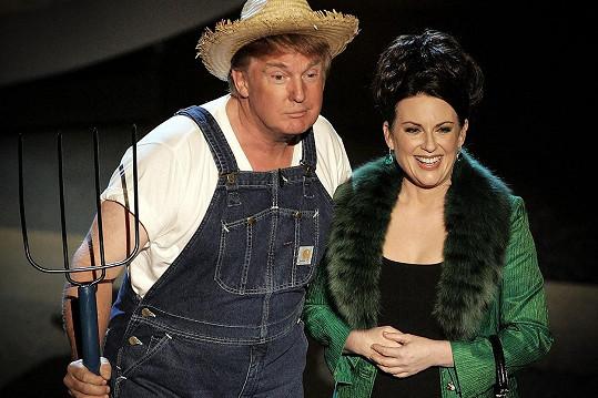 Vystoupení Donalda Trumpa a Megan Mullally bylo poněkud mimo.