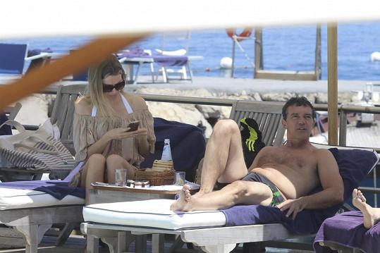 Antonio je během italského výletu ve skvělém rozmaru.