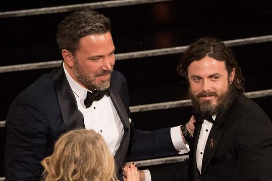 Ben a Casey na únorovém udílení Oscarů