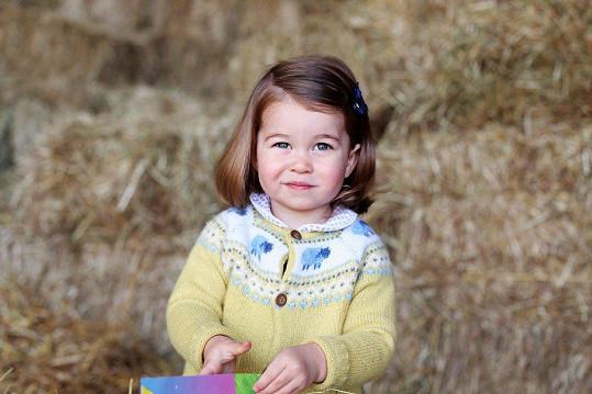 Takto vypadala Charlotte ve dvou letech.