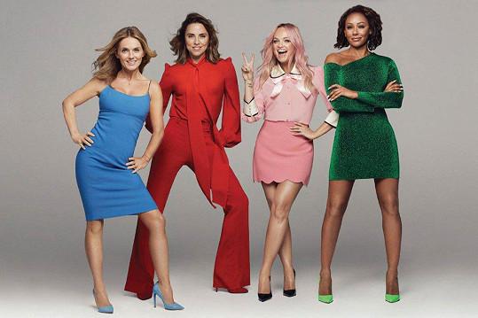 Spice Girls zůstaly jen čtyři - (zleva) Geri, Mel C, Emma a Mel B