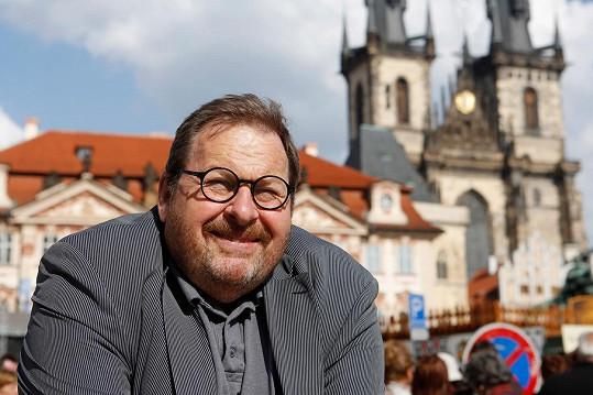Ottfried Fischer na návštěvě Prahy (2014)